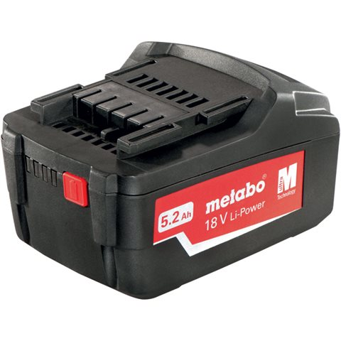 Metabo 18V Li-Power Batteri 5,2Ah
