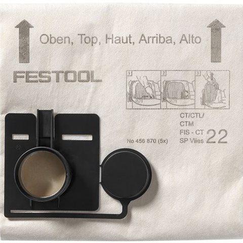 Festool FIS-CT 22 SP VLIES Filtersäck 5-pack