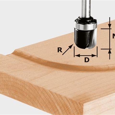 Festool HW S8 R6,4 KL Hålkälsfräs 8mm spindel