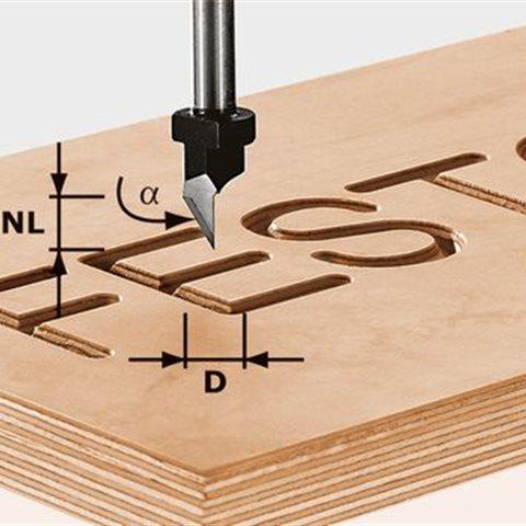 Festool HW S8 D11/60° Skriftfräs 8mm spindel