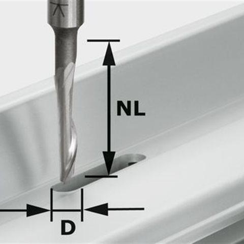 Festool HS S8 D5/NL23 Aluminiumfräs 8mm spindel