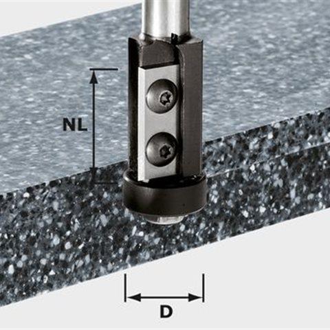 Festool HW S12 D21/30WM Kantfräs med vändskär, 12mm spindel