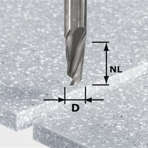 Festool HW Spi D12/42 RD ss S12 Spiralnotfräs 12mm spindel