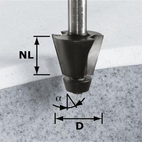 Festool HW D33,54/15° ss S12 Fasfräs 12mm spindel
