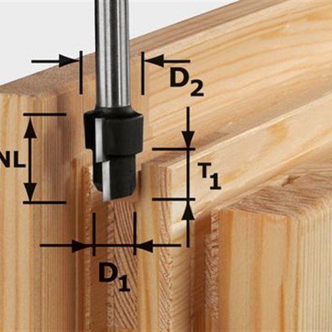 Festool HW D16,3/12,3/9,3 S12 Stegfräs 12mm spindel