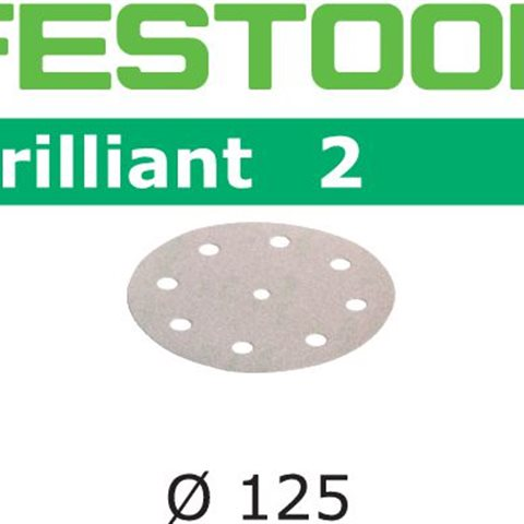 Festool STF BR2 Slippapper 125mm, 8-hålat, P40, 50-pack