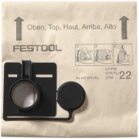 Festool FIS-CT 33/20 Filtersäck 20 stycken