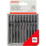 Bosch 2607010146 Plastic and Wood Sticksågssats Sticksågbladsats