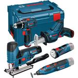 Bosch GSR 12V-15 + GST 12V-70 + GSA 12V-14 + GRO 12V-35 + GLI 12V-330 Verktygspaket