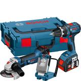 Bosch GSR 18 V-LI + GWS 18-125 V-LI + GLI Verktygspaket