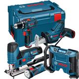 Bosch GSR 12V-15 + GST 12V-70 + GSA 12V-14 + GPB 12V-10 + GLI 12V-330 Verktygspaket