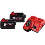 Milwaukee M18 NRG-502 Laddpaket