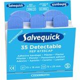 Salvequick 6735CAP Blue Detectable Plåster