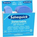Salvequick 6754CAP Blue Detectable Plåster